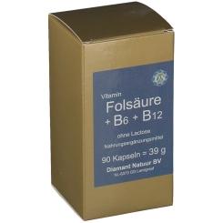 Folsäure + Vitamin B6 + Vitamin B12 ohne Lactose
