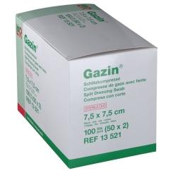 Gazin Schlitzkompressen 7,5x7,5cm 8fach steril