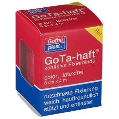 GoTa-haft kohäsive Binde 6 cm x 4 m rot