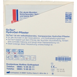 GoTac HydroGel-Pflaster steril 10 x 7 cm