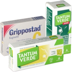Grippostad® C + TANTUM VERDE® Pastillen und Spray Set