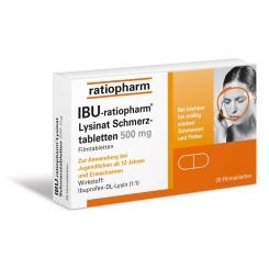 IBU-ratiopharm® Lysinat Schmerztabletten 500 mg