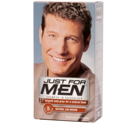 JUST FOR MEN Pflege-Tönungs-Shampoo aschbraun