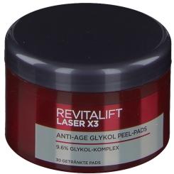 L'Oreal RevitaLift Laser X3 Anti-Age Glykol Peel Pads