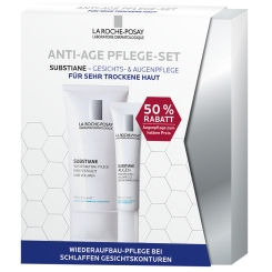 LA ROCHE-POSAY Substiane Anti-Age Pflege-Set Gesichts- und Augenpflege für sehr trockene Haut