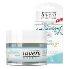 lavera basis sensitiv Anti-Falten Q10 Feuchtigkeitscreme und Maske