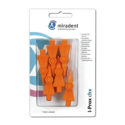 miradent I-Prox® chx Interdentabürsten orange conical 0,8 - 2,5/5,0 mm