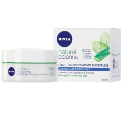 NIVEA® natural balance Feuchtigkeitsspendende Tagespflege