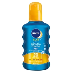 NIVEA® SUN Schutz & Frische transparentes Sonnenspray LSF 20
