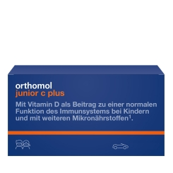 Orthomol junior C plus® Kautabletten Waldfrucht & Mandarine/Orange