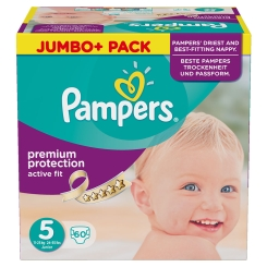 Pampers® Active Fit Gr. 5 Junior 11-25 kg Jumbo Plus Pack