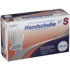 PARAM Einmalhandschuhe Latex Größe S