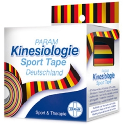 PARAM Kinesiologie Sport Tape 5 cm x 5 m Schwarz-Rot-Gold