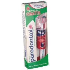 parodontax® mit Fluorid Zahnpasta + Zahnbürste GRATIS