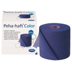 Peha-haft® Color latexfrei Fixierbinde blau 4 cm x 4 m