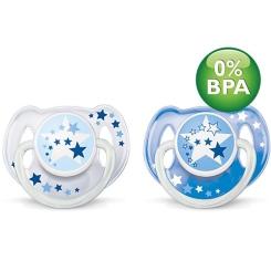 Philips® AVENT Schnuller für die Nacht 6-18 Monate BPA-frei