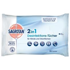 SAGROTAN® 2 in 1 Desinfektionstücher