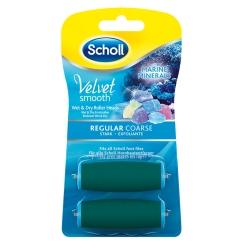Scholl Velvet Smooth Pedi wet & dry Ersatzrollen Meeresmineralien stark