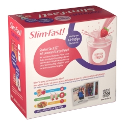 Slim Fast Starter Paket Erdbeer Geschmack