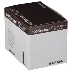 Sterican® Insulinkanüle G26 x 1/2 Zoll 0,45 x 12 mm braun