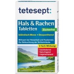 tetesept® Hals & Rachen Tabletten Zuckerfrei