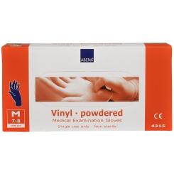 Vinyl Handschuhe puderfrei medium blau unsteril