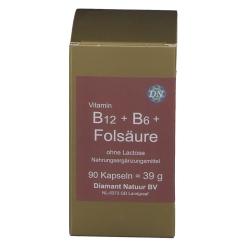 Vitamin B12 + B6 + Folsäure ohne Lactose