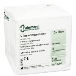 Vlieskompressen Fuhrmann® 10x10 cm 4 fach unsteril