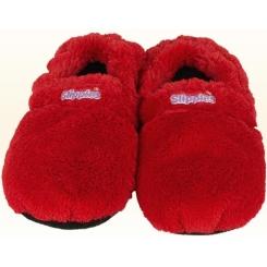 Warmies® Slippies™ Deluxe wärme Pantoffel rot Gr. M (36-40)