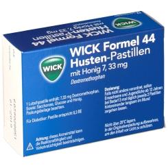 WICK Formel 44 Husten-Pastillen 7,33 mg mit Honig