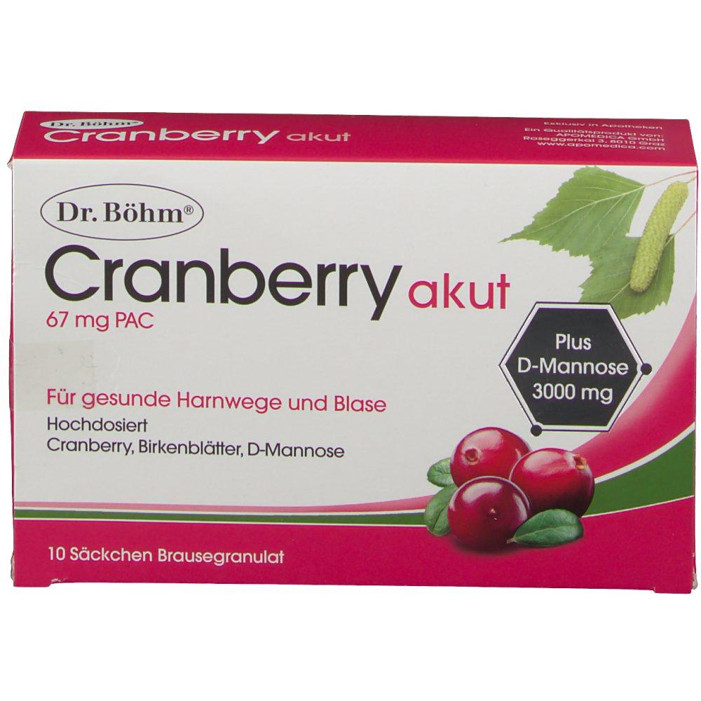 Dr. Böhm Cranberry akut 67 mg PAC - shop-apotheke.at