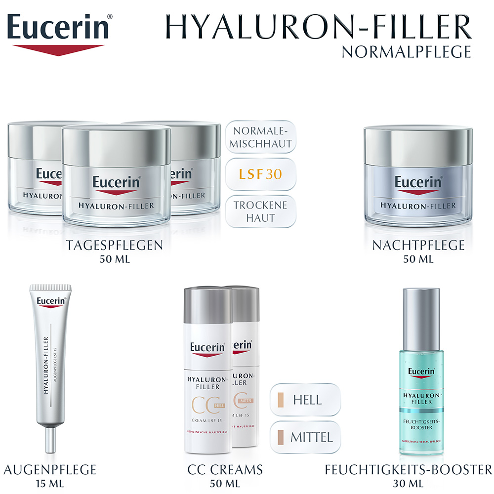 eucerin hyaluron filler tagespflege f r trockene haut shop. Black Bedroom Furniture Sets. Home Design Ideas