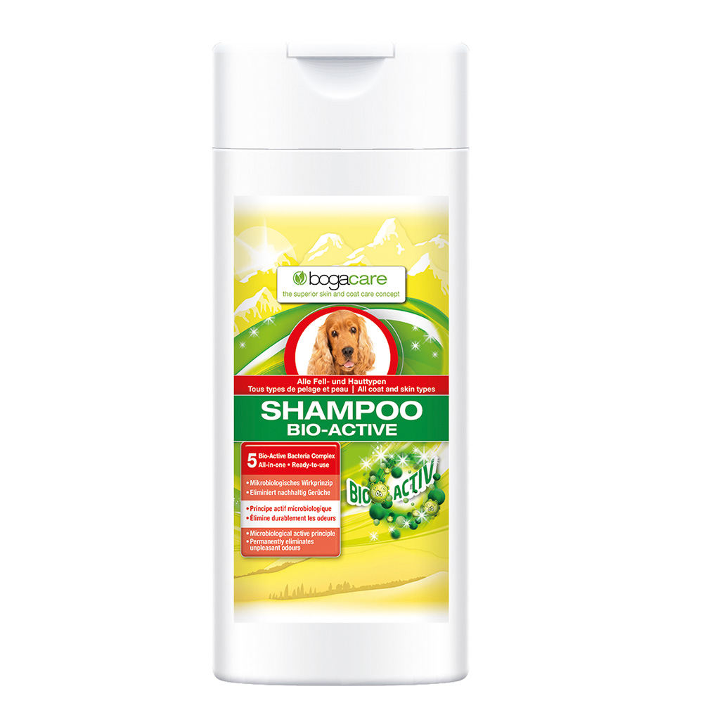 bogacare shampoo bio active f r hunde shop. Black Bedroom Furniture Sets. Home Design Ideas