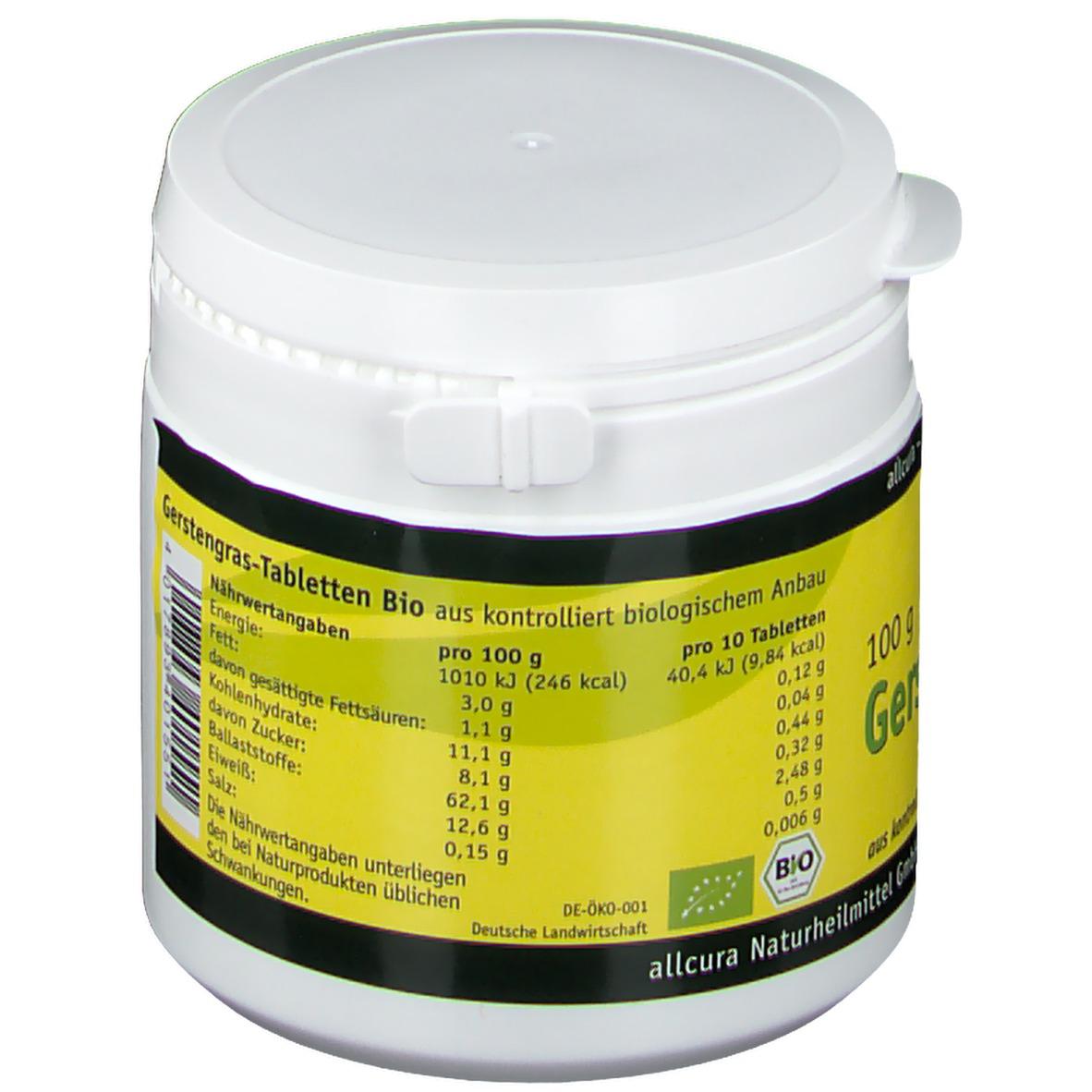 allcura Gerstengras Bio Tabletten