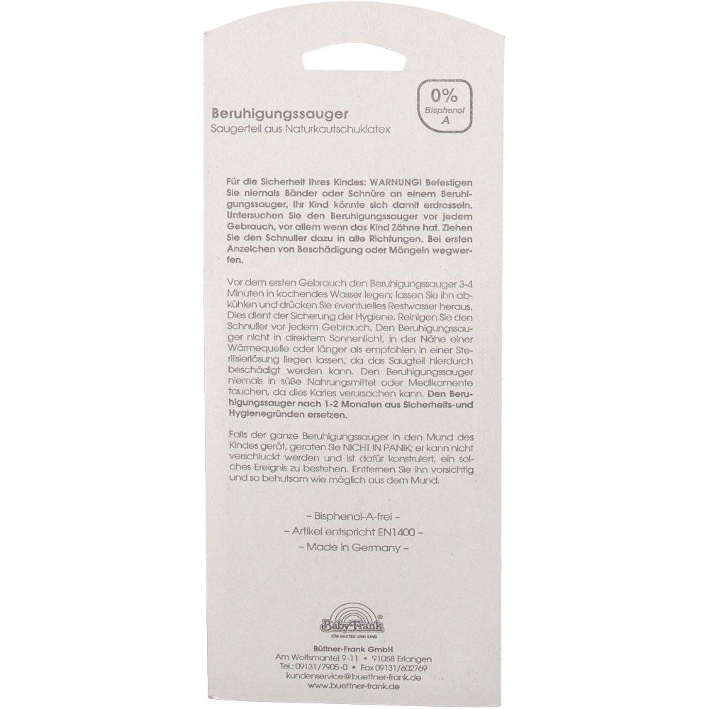 Baby-Frank® Beruhigungssauger in Kirschform Latex 0-6 Monate blau/petrol