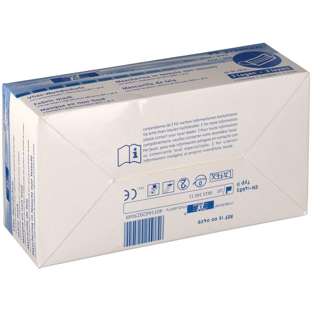 FRANK® Mundschutz mit Gummiband und Nasenbügel blau