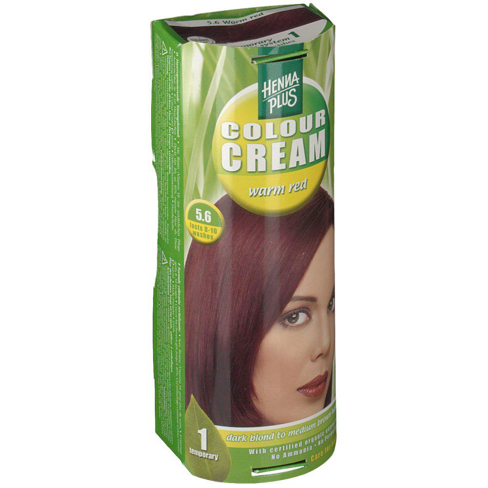 Hennaplus Colour Cream Warm Red 5,6