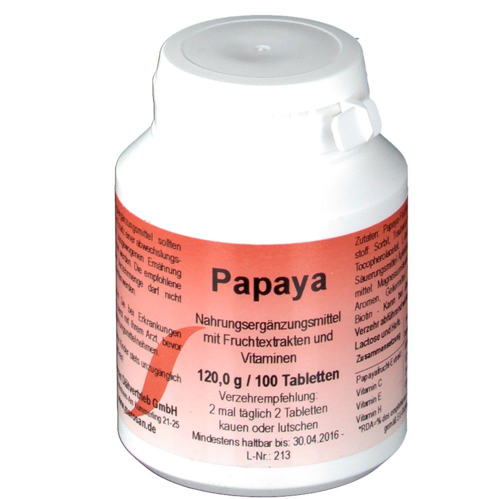 Papaya Kautabletten
